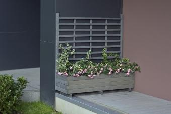 Blumenkasten mit Rankgitter Gmunden 136x37x136cm vintage-grau Bild 1