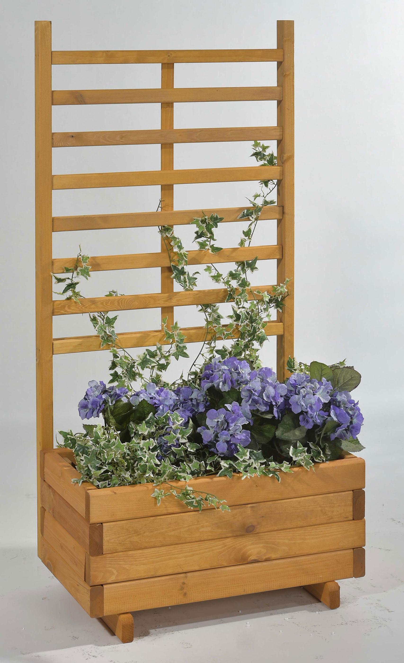 Blumenkasten mit Rankgitter Gmunden 68x37x136cm honig Bild 1
