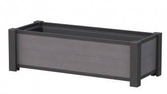 Pflanzkasten / Pflanzgefäss WPC 129,5x52x40cm anthrazit Bild 1