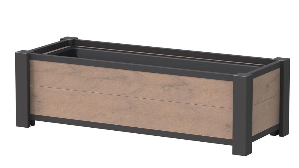 Pflanzkasten / Pflanzgefäss WPC 129,5x52x40cm mandel Bild 1