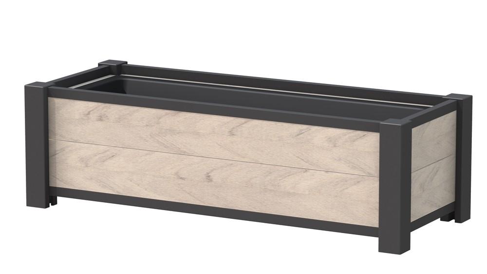 Pflanzkasten / Pflanzgefäss WPC 129,5x52x40cm sand Bild 1