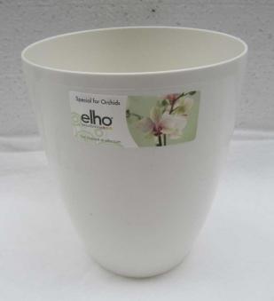 Übertopf elho Brussels Herbs Diamond Orchid High 12,5cm weiß Bild 1