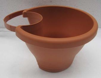 Pflanzenkübel elho Corsica Regenrohrpflanzengefäß 24cm terra Bild 1