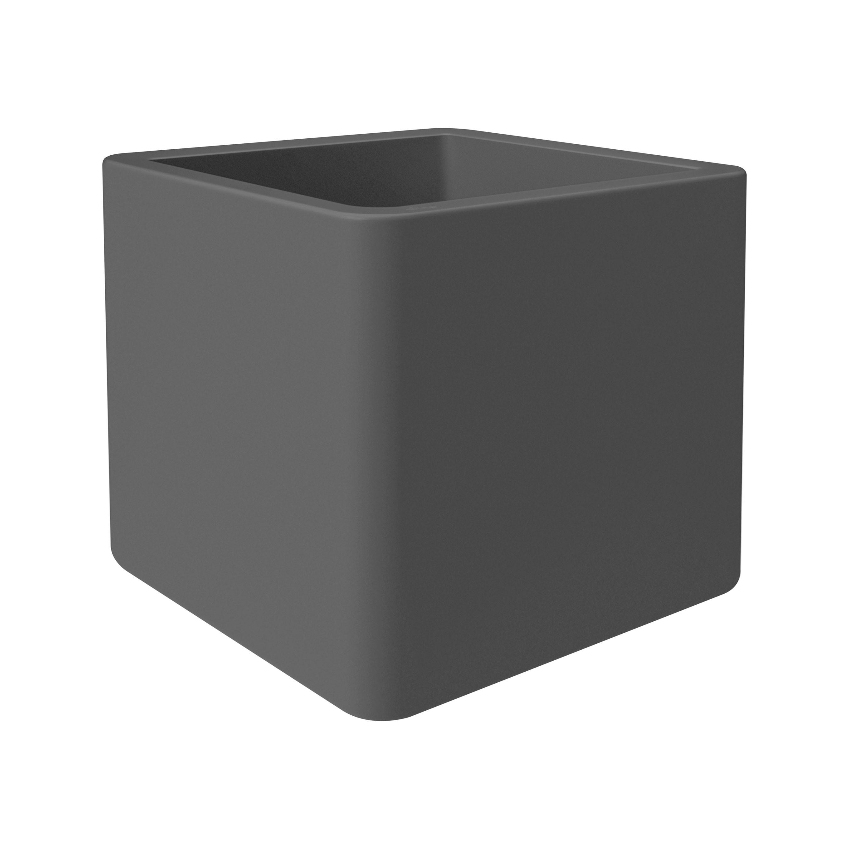 Pflanzgefäß / Pflanzkasten elho Pure Soft Brick 40x40x39cm anthrazit Bild 1