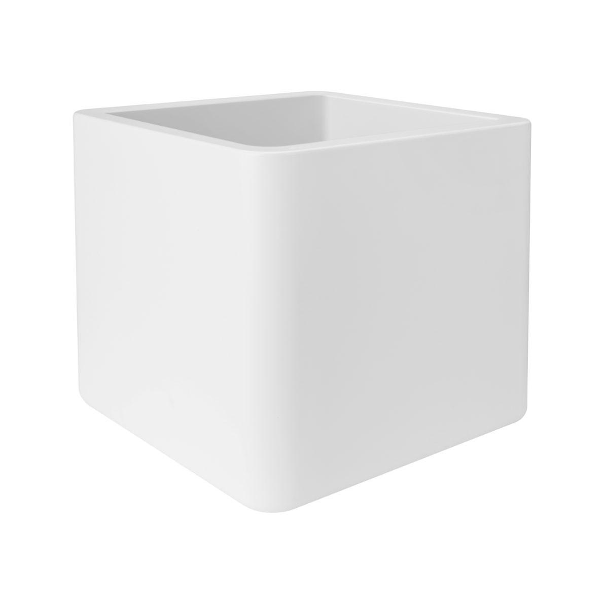 Pflanzgefäß / Pflanzkasten elho Pure Soft Brick 50x50x49cm weiß Bild 1