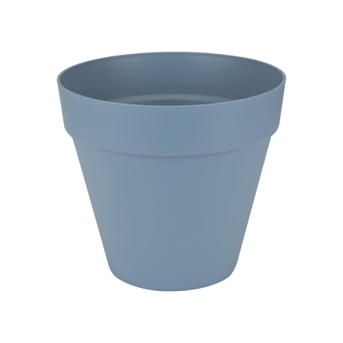 Pflanzgefäß / Pflanztopf elho Loft Urban Round Ø 25cm H 22cm blau Bild 1