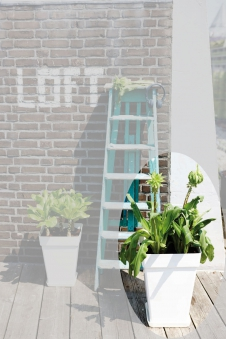 Pflanztopf elho Loft Urban Square High 37x37x51cm weiß Bild 1