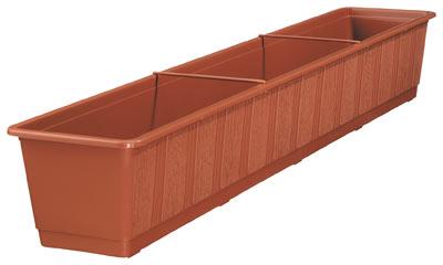 blumenkasten standard 100 cm terracotta bei. Black Bedroom Furniture Sets. Home Design Ideas