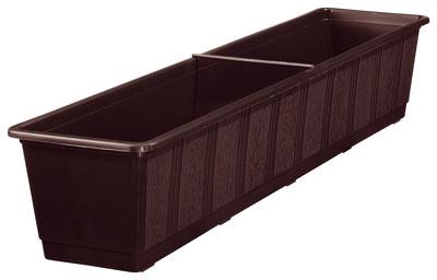 blumenkasten standard 80 cm braun bei. Black Bedroom Furniture Sets. Home Design Ideas