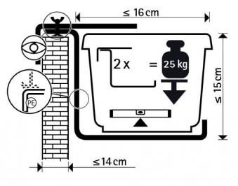 blumenkasten halterung typ b braun bei. Black Bedroom Furniture Sets. Home Design Ideas