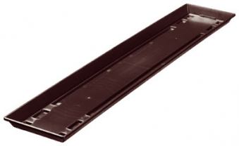 blumenkasten untersetzer standard 80 cm braun bei. Black Bedroom Furniture Sets. Home Design Ideas