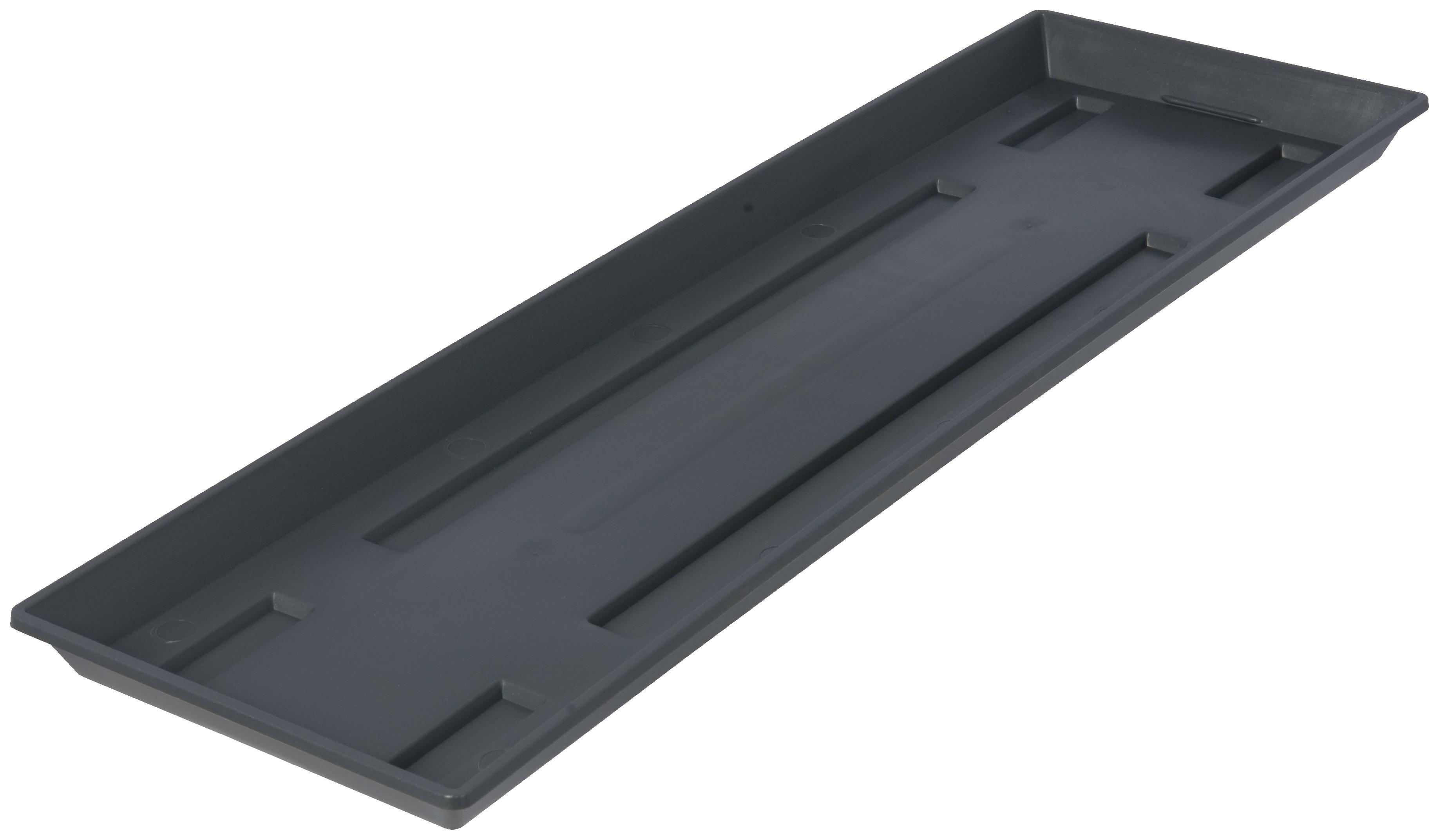 blumenkasten untersetzer gro e ausf hrung 80 cm anthrazit. Black Bedroom Furniture Sets. Home Design Ideas