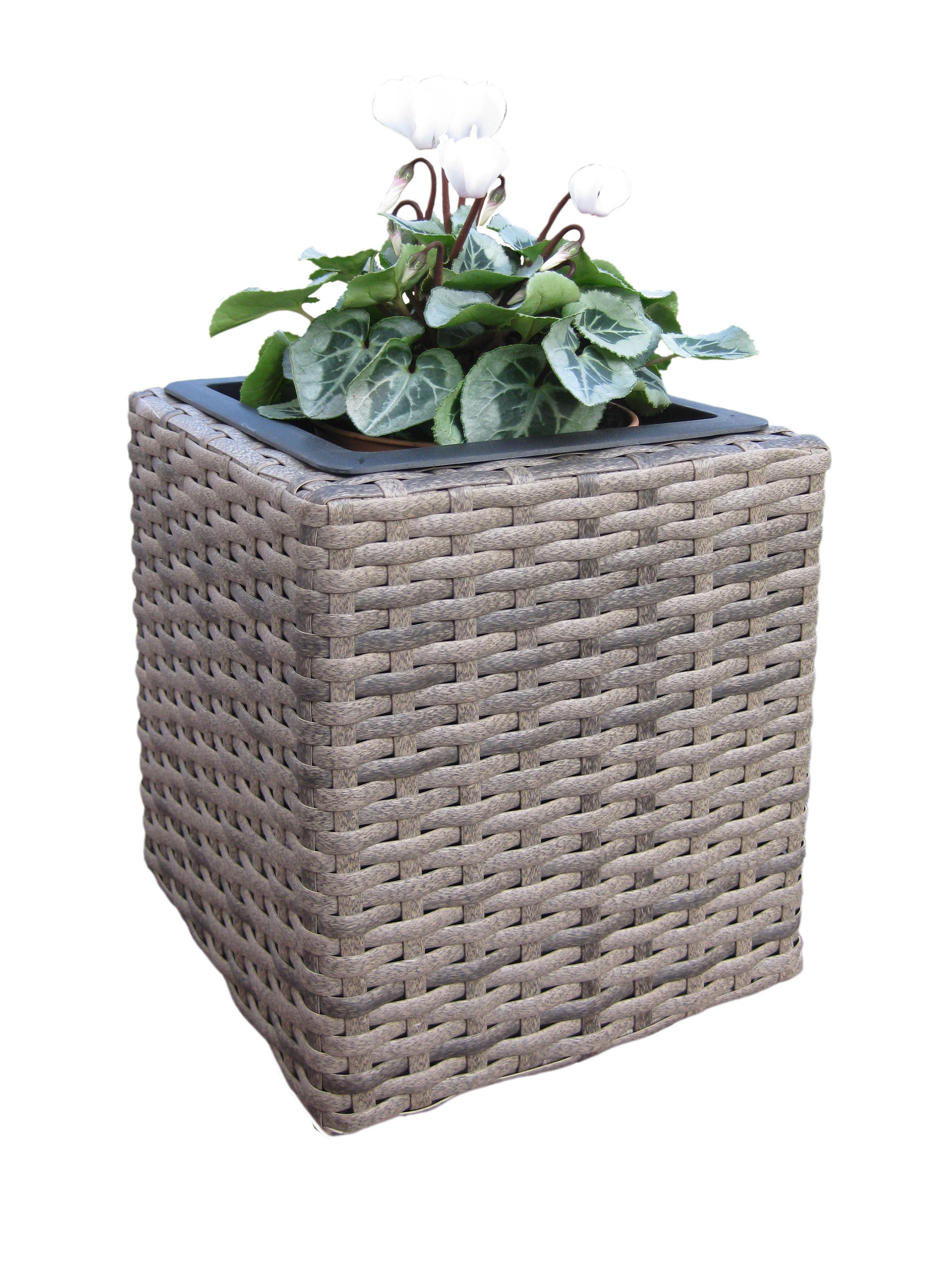 blumenk bel pflanztopf habau rio aus polyethylen mit metallrahmen bei. Black Bedroom Furniture Sets. Home Design Ideas