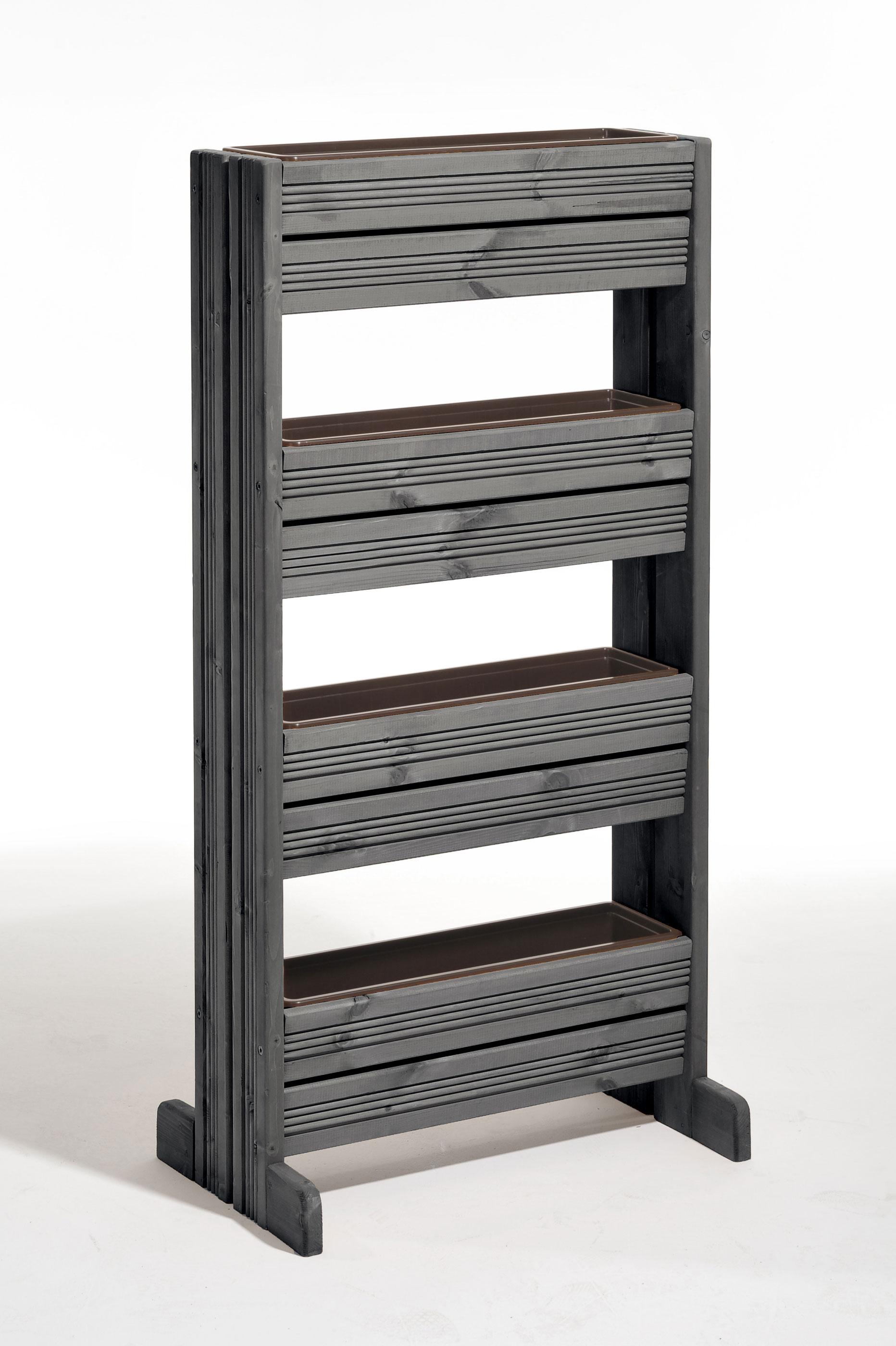 Hochbeet / Pflanzkasten / Vertikalbeet vintage-grau 39,5x65,5x133cm Bild 1