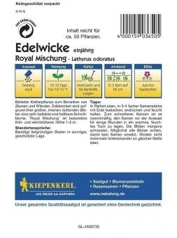 Kiepenkerl Saatgut Kletterpflanze Edelwicke Lathyrus Royal Mischung Bild 2