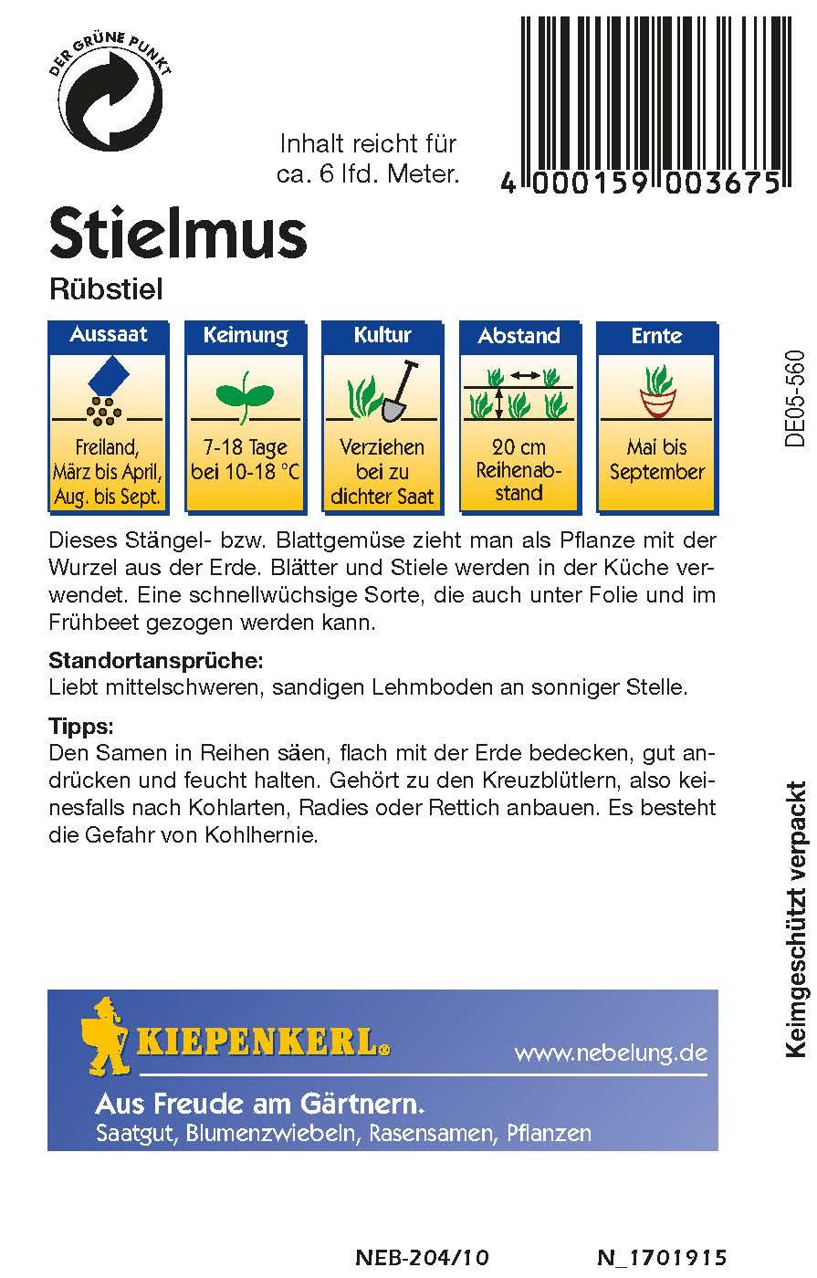 Saatgut Stielmus/ Rübstiel Stielmus / Rübstiel Bild 2