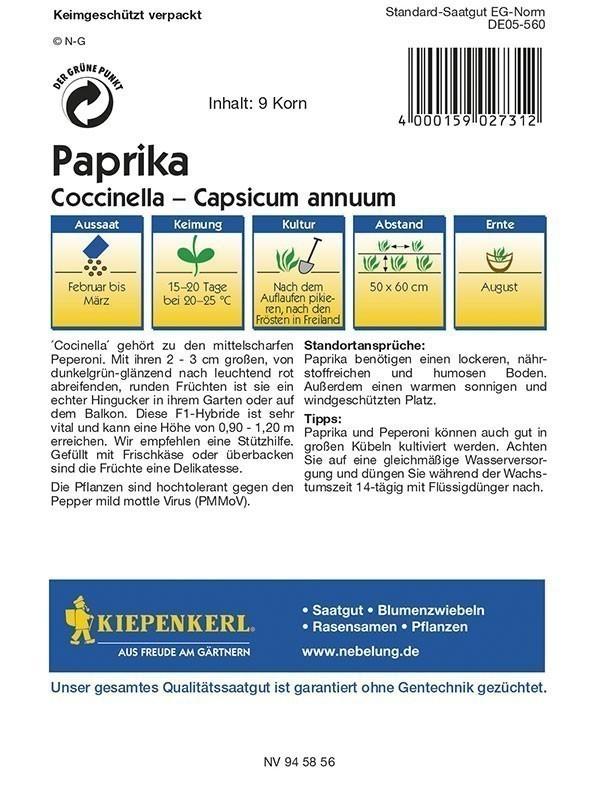 Kiepenkerl Saatgut Paprika Coccinella Bild 2
