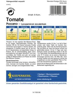 Kiepenkerl Saatgut Tomate Pozzano Bild 2