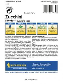 Kiepenkerl Saatgut Zucchini Floridor Bild 2