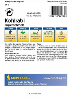 Saatgut Kohlrabi Superschmelz Bild 2