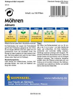 Saatgut Möhren/Karotten Almaro, Pillensaat Bild 2