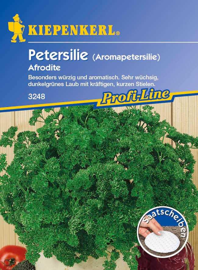 Kräuter Aromapetersilie Afrodite, Saatscheiben Petroselinum crispum Bild 1