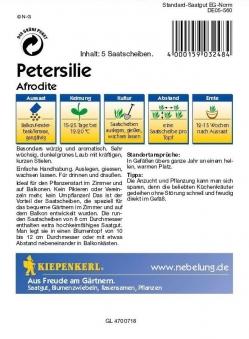 Kräuter Aromapetersilie Afrodite, Saatscheiben Petroselinum crispum Bild 2