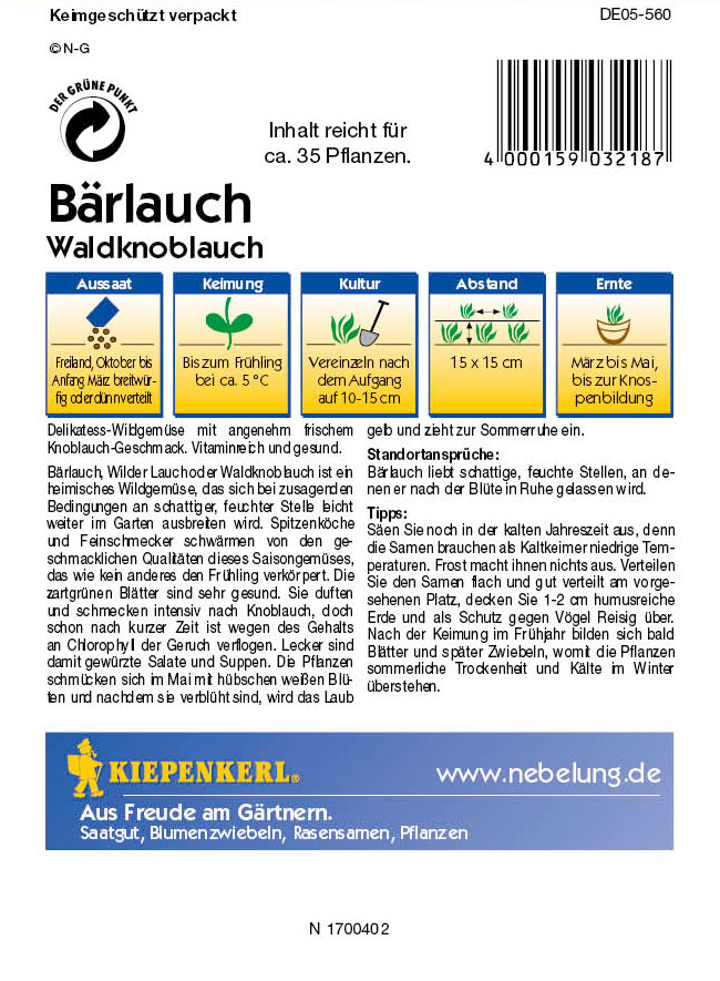 Saatgut Bärlauch-Saatgut Bärlauch / Waldknoblauch Bild 2