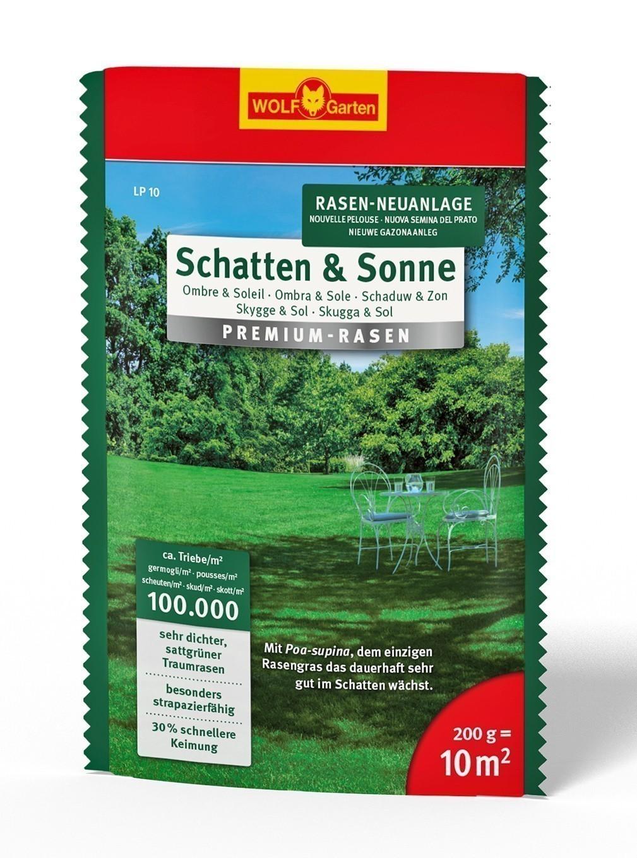 Wolf Garten Premium-Rasen Saatgut Schatten & Sonne LP10 für 10 m² Bild 1