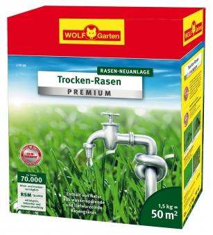 Wolf Garten Rasensamen Trocken-Rasen Premium Saatgut L-TP50 für 50 m² Bild 1