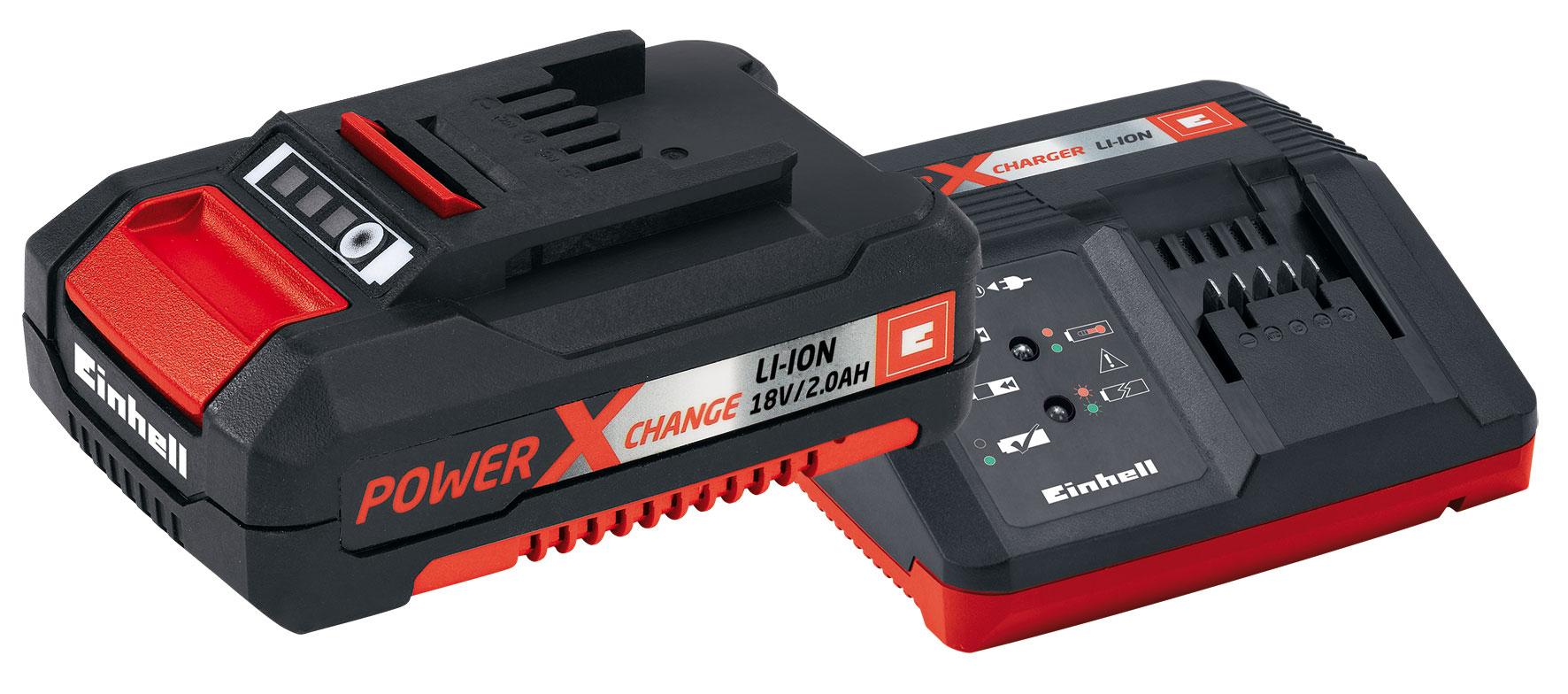 Einhell Power-X-Change Starter Kit Akku 18 V/2,0 Ah und Ladegerät Bild 1