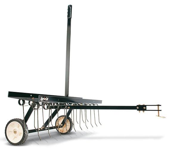 Rasenkamm Anhänger Rasentraktor MTD / Wolf Garten Arbeitsbreite 102cm Bild 1
