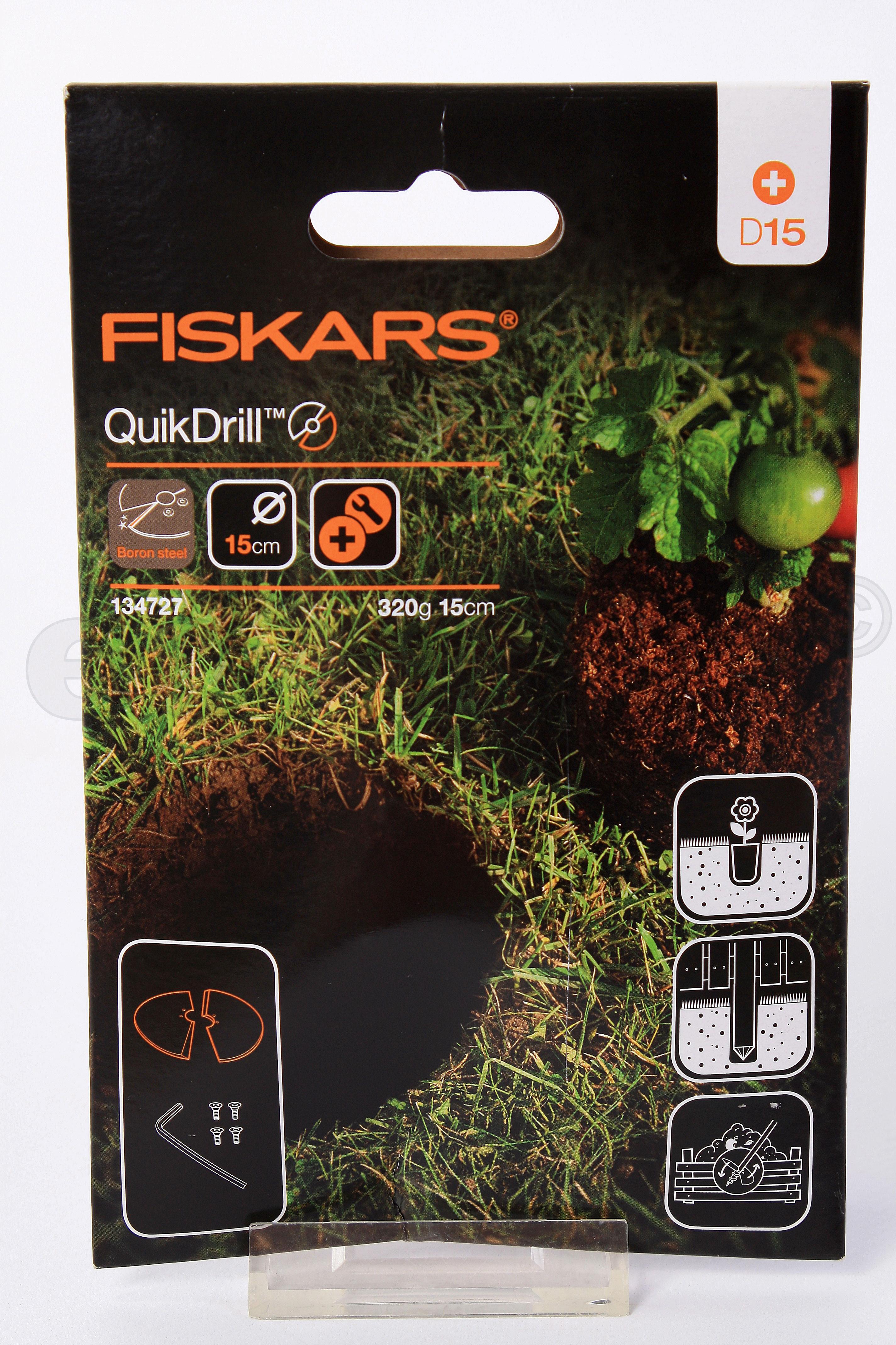 FISKARS Erweiterung Klingen QuikDrill 150mm für Handerdbohrer Bild 1