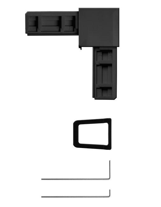 Eckverbinder Set für Fliegengitter System Plus Schellenberg anthrazit Bild 2