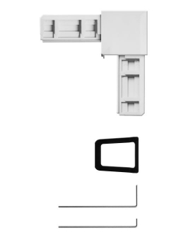Eckverbinder Set für Fliegengitter System Plus Schellenberg weiß Bild 2