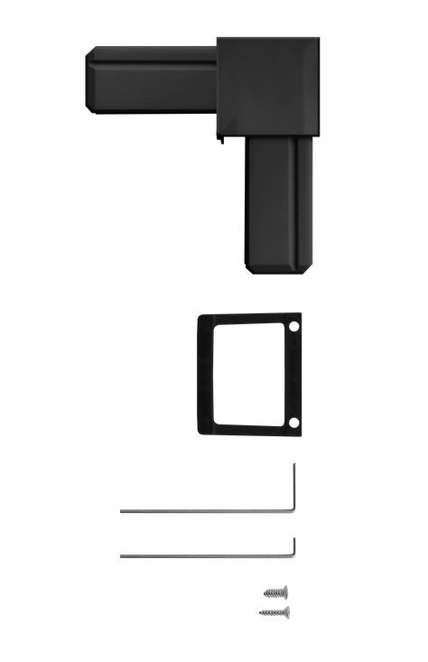 Eckverbinder Set für Fliegengitter System Premium Schellenberg anthraz Bild 2