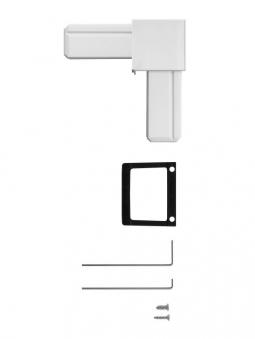 Eckverbinder Set für Fliegengitter System Premium Schellenberg weiß Bild 2