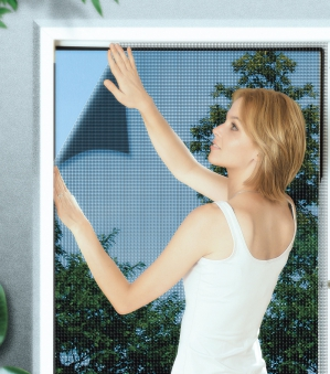 Fliegengitter Basic für Fenster Schellenberg 130x150cm anthrazit Bild 1