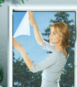 Fliegengitter Basic für Fenster Schellenberg 130x150cm weiß Bild 1