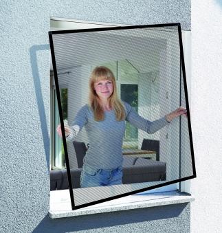 Fliegengitter Basic für Fenster Schellenberg Alu 120x140cm braun Bild 1