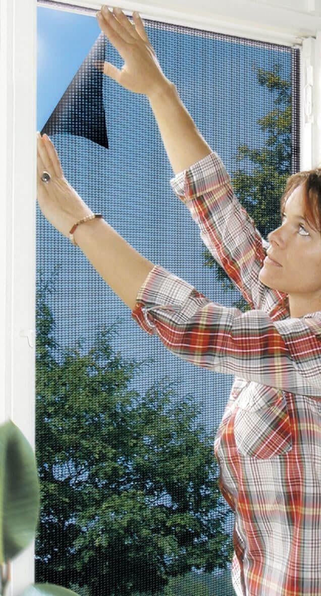 Fliegengitter Elastic für Fenster Schellenberg 130x150cm anthrazit Bild 1