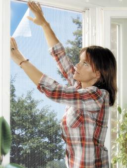 Fliegengitter Elastic für Fenster Schellenberg 130x150cm weiß Bild 1