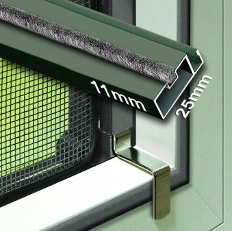 Fliegengitter Insektenschutz Fenster Plus Schellenberg 120x150cm braun Bild 1