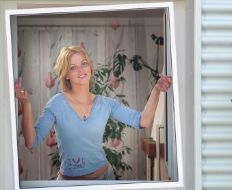Fliegengitter Insektenschutz Fenster Plus Schellenberg 120x150cm braun Bild 3