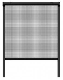 Fliegengitter Insektenschutzrollo Fenster Schellenberg 130x160cm anthr Bild 2