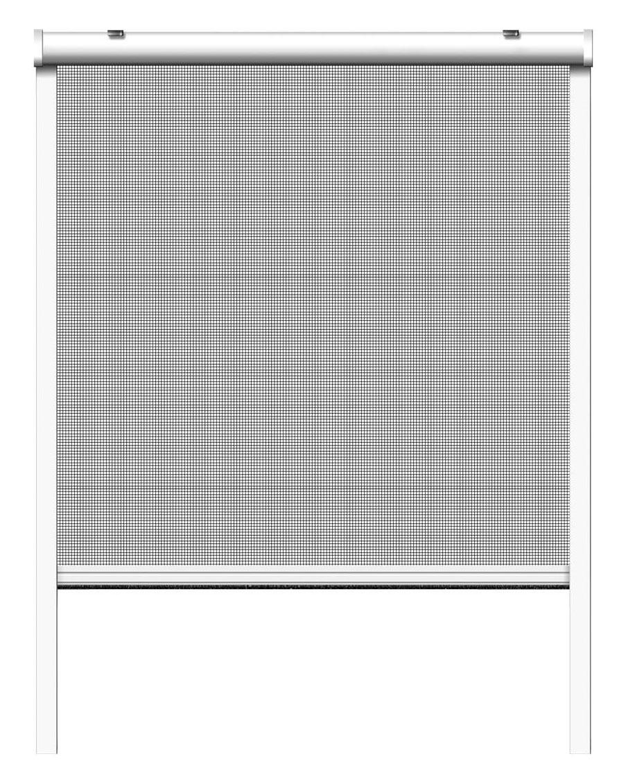 Fliegengitter Insektenschutzrollo Fenster Schellenberg 130x160cm weiß Bild 2