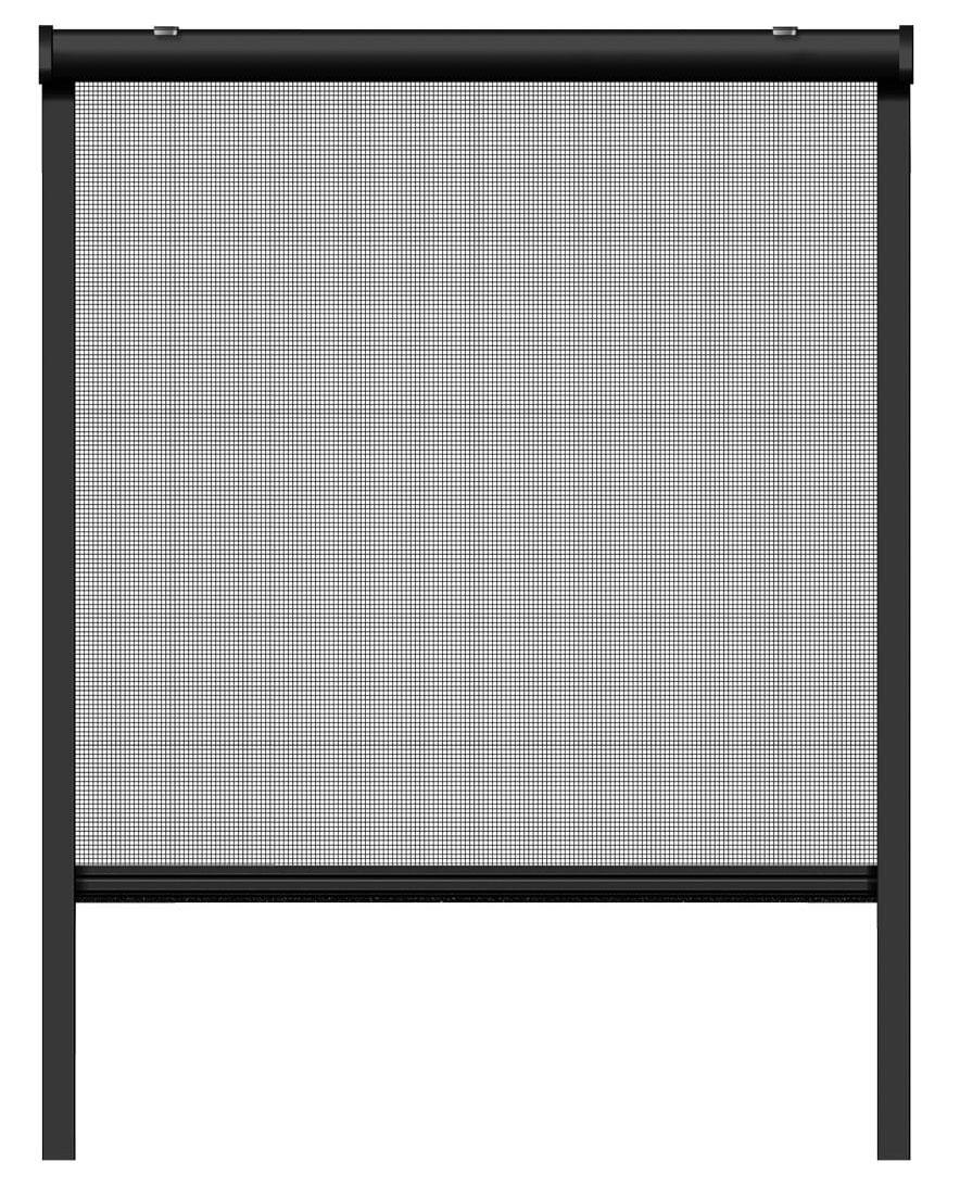 Fliegengitter Insektenschutzrollo Fenster Schellenberg 160x160cm anthr Bild 2