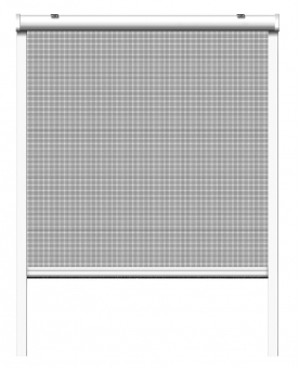 Fliegengitter Insektenschutzrollo Fenster Schellenberg 160x160cm weiß Bild 2