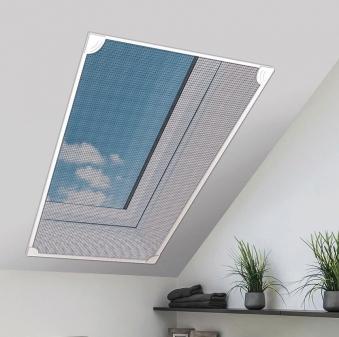 Fliegengitter Magnetic für Dachfenster Schellenberg 80x140cm weiß Bild 1