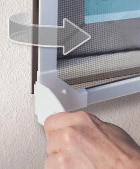 Fliegengitter Magnetic für Dachfenster Schellenberg 80x140cm weiß Bild 3
